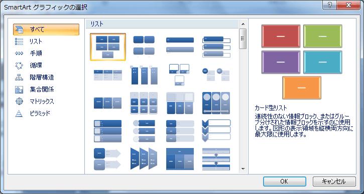 powerpoint 2007 smartart グラフィックの概要